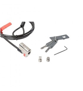 DELL 461-AAES cabluri cu sistem de blocare Negru, Din oţel inoxidabil 1,8 m