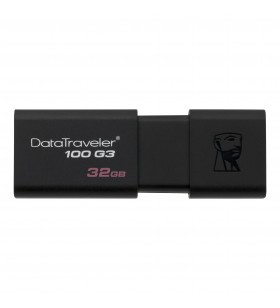 Kingston Technology DataTraveler 100 G3 memorii flash USB 32 Giga Bites USB Tip-A 3.2 Gen 1 (3.1 Gen 1) Negru
