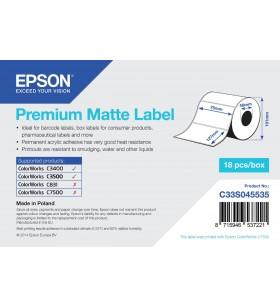 Epson Premium Matte Label - Die-cut Roll  76mm x 127mm, 265 labels