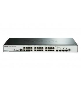 D-Link DGS-1510-28P switch-uri Gestionate L3 Gigabit Ethernet (10 100 1000) Negru Power over Ethernet (PoE) Suport