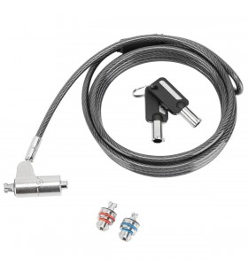 Targus ASP85GL cabluri cu sistem de blocare Argint 2 m