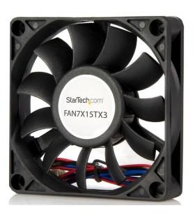 StarTech.com FAN7X15TX3 sisteme de răcire pentru calculatoare Carcasă calculator Distracţie 7 cm Negru