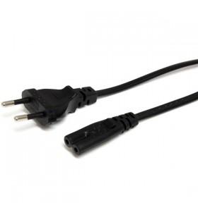 StarTech.com PXTNB2SEU1M cabluri de alimentare Negru 1 m CEE7 16 Conector C7