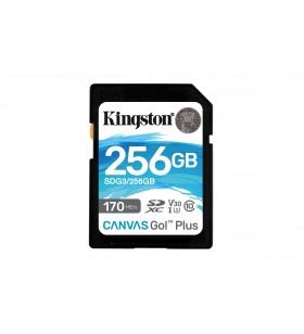 Kingston Technology Canvas Go! Plus memorii flash 256 Giga Bites SD Clasa 10 UHS-I