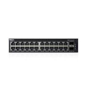 DELL X-Series X1026P Gestionate L2+ Gigabit Ethernet (10 100 1000) Negru 1U Power over Ethernet (PoE) Suport