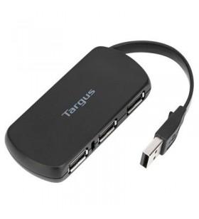 Targus ACH114EU hub-uri de interfață USB 2.0 480 Mbit s Negru