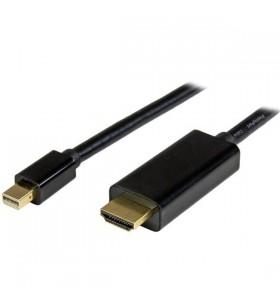 StarTech.com MDP2HDMM1MB adaptor pentru cabluri video 1 m DisplayPort HDMI Tip A (Standard) Negru