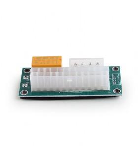 "ADAPTOR GEMBIRD pt. 2 surse, Molex 24 pini (M) la Molex (T), permite conectarea simultana a 2 surse in PC, ""A-PSU2M-01"""