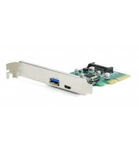"CARD adaptor GEMBIRD, PCI-Express la 2 x USB 3.1 (Type A + Type C), cu bracket low-profile, ""PEX-U31-01"""