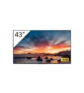 """Sony FWD-43X80H T Afișaj Semne 108 cm (42.5"""") IPS 4K Ultra HD Panou informare digital de perete Negru Procesor încorporat"""