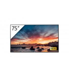 """Sony FWD-75X80H T Afișaj Semne 189,2 cm (74.5"""") IPS 4K Ultra HD Panou informare digital de perete Negru Procesor încorporat"""