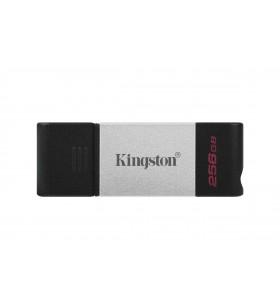 Kingston Technology DataTraveler 80 memorii flash USB 256 Giga Bites USB tip-C 3.2 Gen 1 (3.1 Gen 1) Negru, Argint
