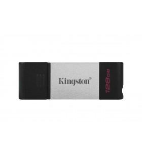 Kingston Technology DataTraveler 80 memorii flash USB 128 Giga Bites USB tip-C 3.2 Gen 1 (3.1 Gen 1) Negru, Argint