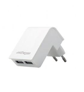"ALIMENTATOR retea 220V GEMBIRD, universal, 2 x USB, 2.1A, alb, ""EG-U2C2A-02-W"""
