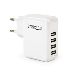 "ALIMENTATOR retea 220V GEMBIRD, universal, 4 x USB, maxim 3.1A, alb, ""EG-U4AC-02"""