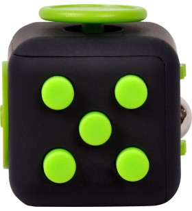 "CUB ANTISTRES SPACER, FIDGET, black cu butoane green, ""SP-CUBE-FGET"""