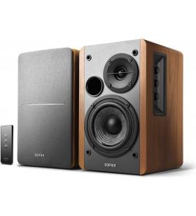 "BOXE EDIFIER 2.0, RMS:  42W (2 x 21W), telecomanda wireless, volum, bass, treble, brown, ""R1280T""(include timbru verde 5 leu)"