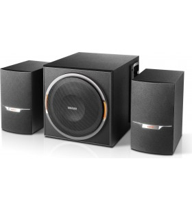 BOXE EDIFIER 2.1, RMS:  38W (2 x 8W, 1 x 22W), bluetooth, volum, bass, black raport semnal-zgomot: 85dBA, frecventa raspuns - sa