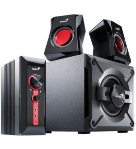 "BOXE GENIUS 2.1, RMS: 38W (2 x 9W + 1 x 20W), gaming, black &amp red, ""SW-G2.1 1250 II"" ""31730019400"" (include timbru verde"