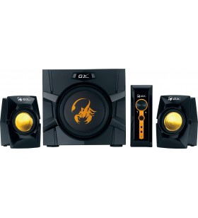 "BOXE GENIUS 2.1, RMS: 70W (2 x 15W + 1 x 40W), gaming, black &amp yellow, ""SW-G2.1 3000"" ""31731016100""(include timbru verde"