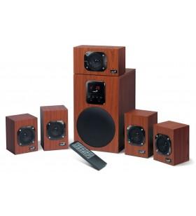"""BOXE GENIUS 5.1, RMS: 125W (5 x 16W + 1 x 45W), telecomanda wireless, wood, """"SW-HF5.1 4800 II"""" """"31730017400"""" (include timbru"""