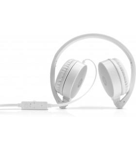HP H2800 Căști Bandă de fixare pe cap Argint, Alb
