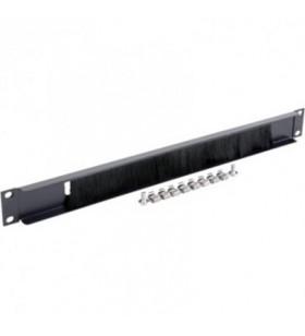 """PANOU intrare cabluri GEMBIRD, 1U pentru rack 19"""", perii antipraf, """"19A-BRUSH-02"""""""