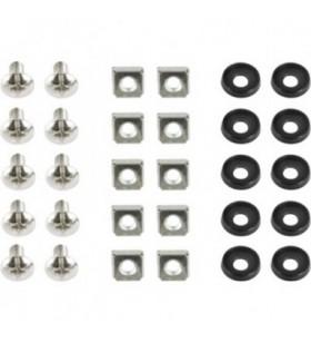 "SET montare GEMBIRD pentru rack 19"", 10 seturi, contine: 10 x M6 suruburi, 10 x M6 piulite, 10 x M6 saibe ""19A-FSET-01"""