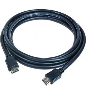 """CABLU video GEMBIRD, HDMI (T) la HDMI (T), 4.5m, conectori auriti, rezolutie maxima 4K (3840 x 2160) la 60 Hz, negru, """"CC-HDMI4"""