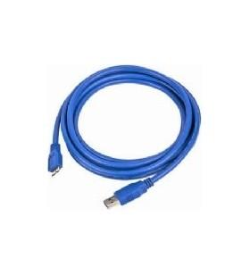 """CABLU USB3.0 la Micro-USB3.0  GEMBIRD  1.8m, (AM/BM), blue, """"CCP-mUSB3-AMBM-6"""""""
