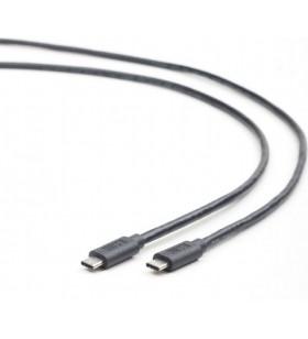 "CABLU USB3.1 (Type-C) la USB3.1 (Type-C)  GEMBIRD  1m,  (CM/CM), black, ""CCP-USB3.1-CMCM-1M"""