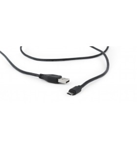 """Double-sided Micro-USB to USB 2.0 AM cable, 1.8 m, black, blister """"CCB-USB2-AMmDM-6"""""""