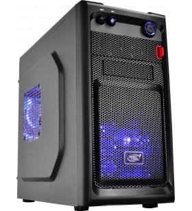 "CARCASA DeepCool  Mini-Tower mATX, 2 120mm LED fan (incluse), front audio &amp 1x USB 3.0, 1x USB 2.0, black ""SMARTER LED"""