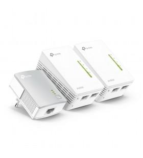 TP-LINK TL-WPA4220T KIT adaptoare de rețea pentru linii de alimentare cu electricitate 300 Mbit s Ethernet LAN Wi-Fi Alb 3 buc.