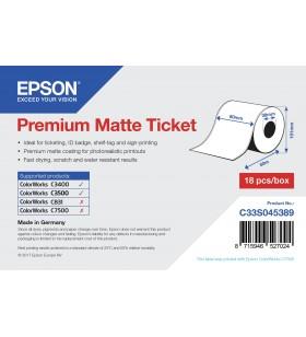 Epson Premium Matte Ticket - Roll  80mm x 50m