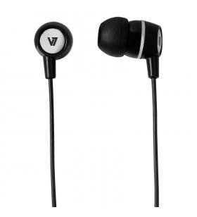 V7 HA110-BLK-12EB cască audio & cască cu microfon Căști În ureche Negru