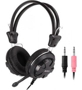 """CASTI A4TECH cu microfon  pe fir, Comfortfit, control volum pe casca, black, """"HS-28-1"""" (include timbru verde 0.5 lei)  EAN 471"""