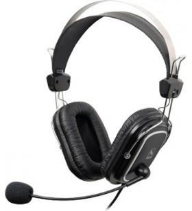 """CASTI A4TECH cu microfon pe casca, control volum pe fir, black, """"HS-50"""" (include timbru verde 0.5 lei) EAN 4711421698658"""