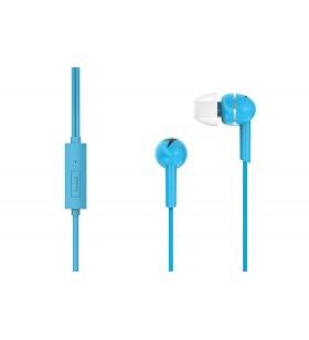 "CASTI GENIUS  smartphone (intraauriculare) cu microfon, ""HS-M300"", in-ear, blue ""31710006402"" (include timbru verde 0.1 lei)"