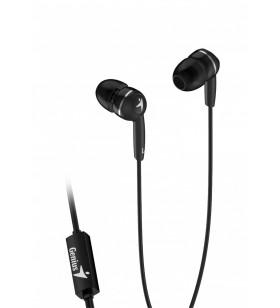 "CASTI GENIUS  smartphone (intraauriculare) cu microfon, ""HS-M320"", in-ear, black ""31710005412"" (include timbru verde 0.1 lei"