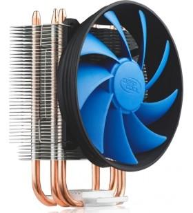 COOLER DeepCool CPU universal, soc LGA1366/115x/775 &amp FMx/AM4/AM3x/AM2x/940/939/754, Al+Cu, 3x heatpipe, fan 120x25mm, 130W \