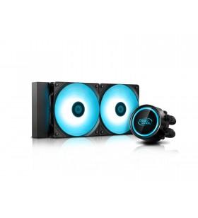 COOLER DeepCool CPU universal. cu LICHID. soc LGA2011(3)/1366/115x &amp FMx/AM4/AM3x/AM2x, AL+Cu+lichid, 2x RGB SYNC LED fan 120