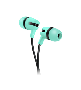 Stereo earphones with flat...