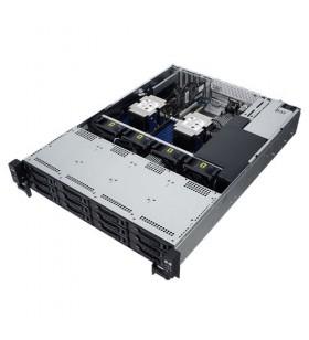 ASUS RS520-E9-RS12-E Intel® C621 LGA 3647 Cabinet metalic (2U) Negru, Din oţel inoxidabil
