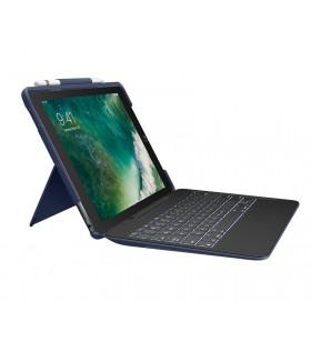 Logitech Slim Combo tastatură pentru terminale mobile QWERTY Italiană Albastru Smart Connector