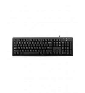 V7 KU200GS-DE tastaturi USB QWERTZ Germană Negru