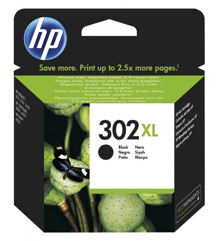 HP 302XL Original Negru 1 buc.