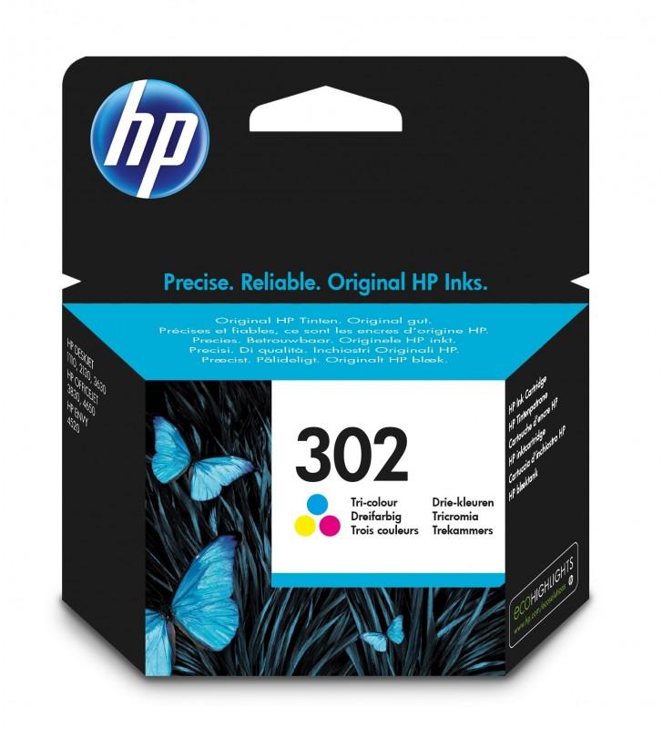 HP 302 Original Cyan, Magenta, Galben 1 buc.