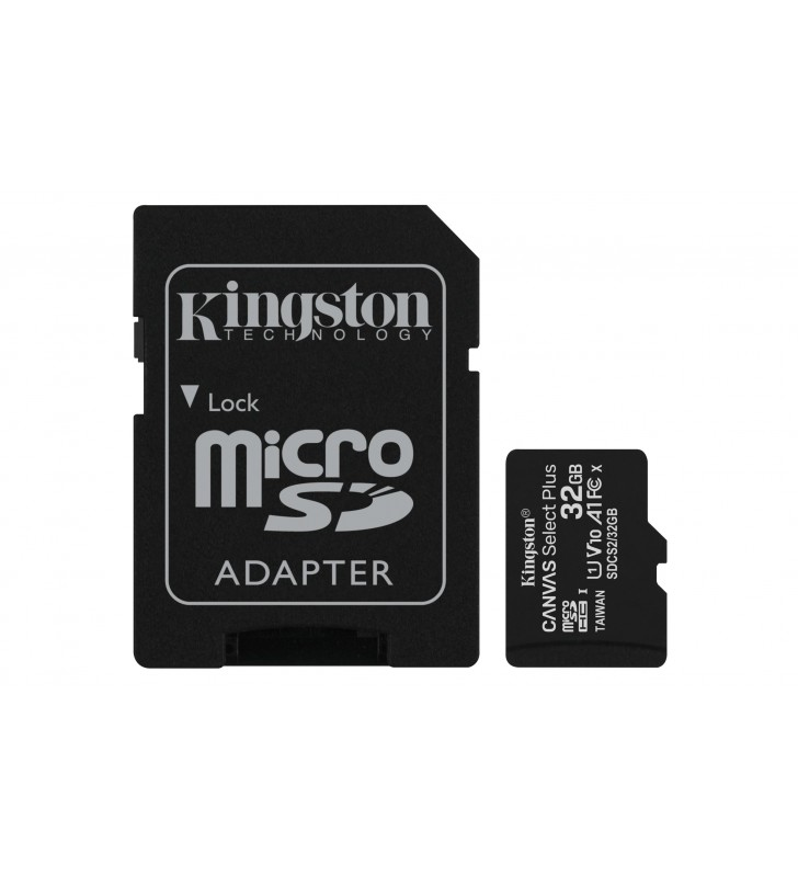 Kingston Technology Canvas Select Plus memorii flash 32 Giga Bites MicroSDHC Clasa 10 UHS-I