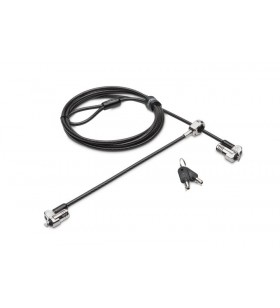 Kensington NanoSaver cabluri cu sistem de blocare Negru, Din oţel inoxidabil 1,8 m